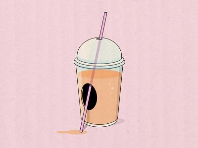 Holy squishee the simpsons simpsons frozen straw hole brand milkshake smoothie slushee slushy squishee drawing poster texture design illustrator vector illustration