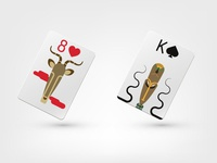 Playing cards Africa for Solitaire Game