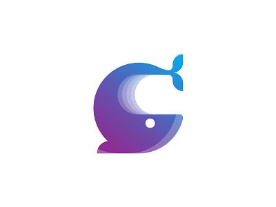 Giftshop logo  type logo shop whale