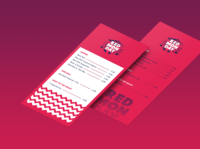 Red Monday Menu event zigzag pattern graphic bold red design mockup menu red monday red bull