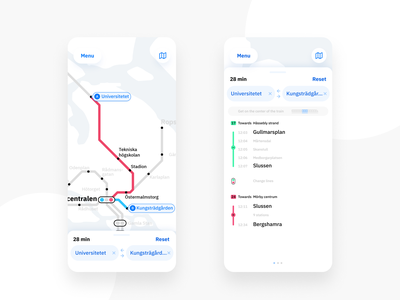Stockholm Subway app map search form route app subway