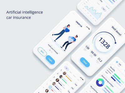 Artificial intelligence car insurance app level charts invite score game route app insurance car