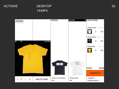 Web shop web design menu checkout shop web