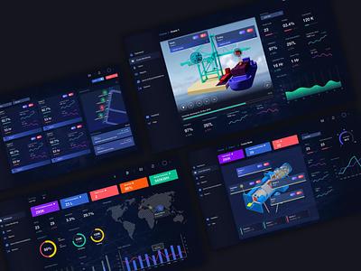 Crane Monitoring Dashboard uxdesign devbez monitoring dashboard futuristic modern uiux ux ui