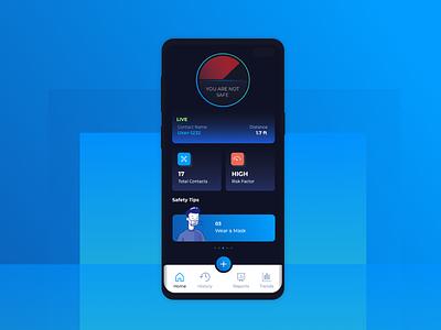 Covid Tracker for Social Distancing ux ui design devbez app tracker covid19 covid