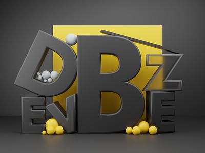 Abstract Text Design motion graphics 3d blender devbez branding design