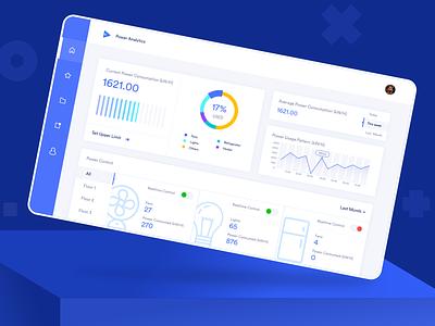 Power Analytics Dashboard design ux ui management energy power iot dashboard