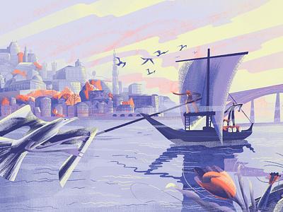 CULTURETRIP - Porto City illustration skyline portugal city