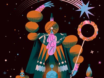 SNAPCHAT MASS SNAP - Three Kings Day 2020 illustrationformotion king bethlehem cake celebration illustration threekings
