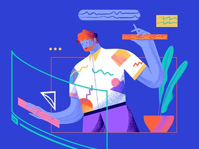 UNBABEL - Video Editor vector character app websiteillustration illustration unbabel