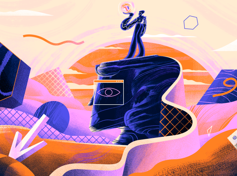 SUPER HI! The Creative Freelancer's Guide to Growing a Business surrealism space character illustration
