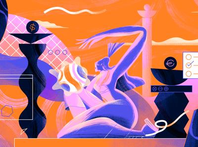SUPER HI! Carolyn Zhang, Independent Digital Designer character illustration