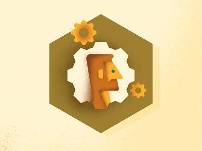 JOIN4CHANGE — Volunteer Managing Program gears cogwheel design illustration icon