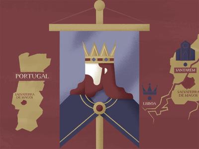 Royal Journey illustration royal portugal banner king