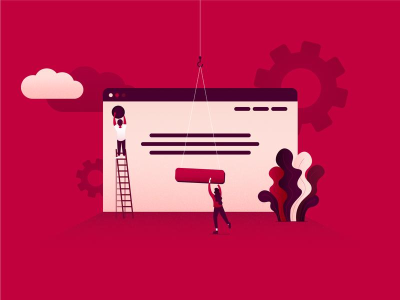 Web development illustration website builder website website building website design web digital agency digital web designer webdesign web design vector graphic branding design vector graphic illustration graphic design