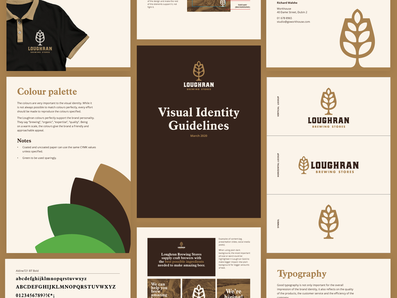 Loughran Brand Identity business card design visual identity symbol design icon design symbol icon beer ingredients brewing stores brewing company family brewing beer branding agency logo design logo brand identity brand design branding brand guidelines brand
