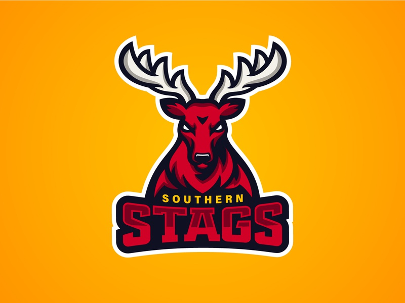 Southern Stags Logo sport logo team logo munster graphic design vector graphic vector branding illustration logo design logo sports logo stag sports mascot mascot sports irish rugby ireland touch rugby rugby stags