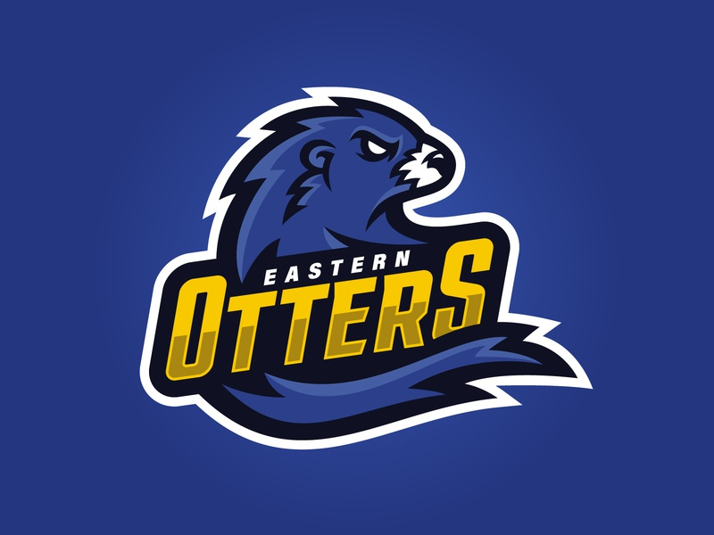 Eastern Otters Logo east blue sport logo team logo vector branding illustration logo design logo sports logo otter sports mascot mascot sports irish rugby ireland touch rugby rugby