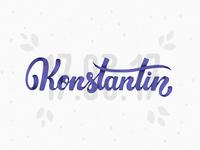 Konstantin lettering