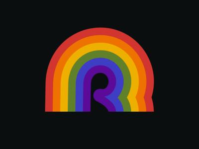 R is for Retro Rainbow