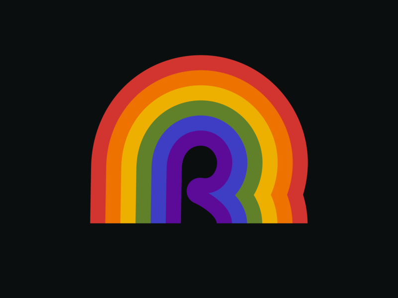R is for Retro Rainbow type vector vector graphic illustration graphic design graphic letter r letter rainbows logo icon retro colors 36daysoftype r rainbow
