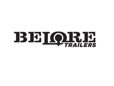 Belore Trailers - wordmark/identity design stencilfont slabserif trucking trailers wordmarkdesign logodesign