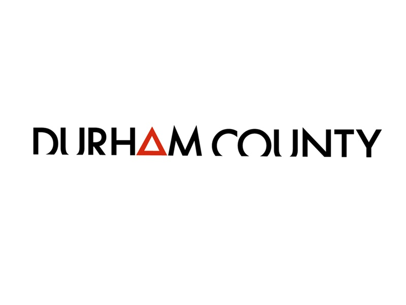 Durham County - wordmark design headstones hughdillon canadiantelevision ctv cbc durhamcounty durham warning hazard identitydesign futura wordmarkdesign logodesign