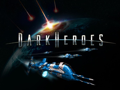 DarkHeroes space ship ui  ux design ui  ux futuristic space steel lettering 3d lettering typography brand development mobile gaming custom lettering science fiction sci-fi logo logo design ccg video games identity wordmark wordmarkdesign