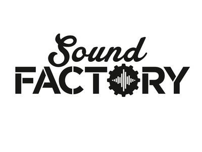 Sound Factory prince george identitydesign branding logo design guitar gear music equipment waveform custom lettering typography music store rebrand refresh brand and identity wordmark word mark design