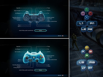 Star Trek User Interface Design paramount spock captain kirk digital extremes ui style button design controllers pc games playstation ps3 xbox 360 user experience design user interface design ui  ux design video games co-op gameplay jj abrahms aaa video games sci-fi star trek