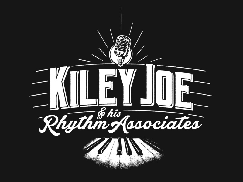 Kiley Joe Masson - T-shirt Design vintage microphone performer singer piano player piano new orleans jazz music rock and roll typography lettering logo t-shirt design