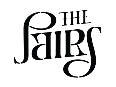 The Pairs - Wordmark design branding lettering typography logodesign vocal music 3 part harmonies ambigrammist ontario canada london ldnont canadian folk music the pairs twins conceptual design logo design wordmark thepairsmusic ambigram