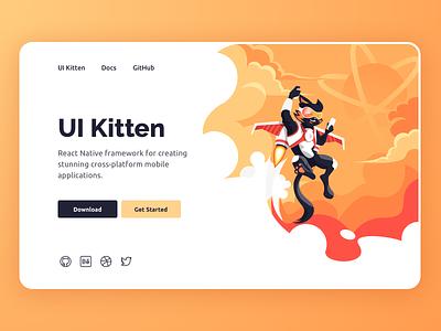 Landing Page - UI Kitten website design graphic design webdesign landing page web design website web illustration