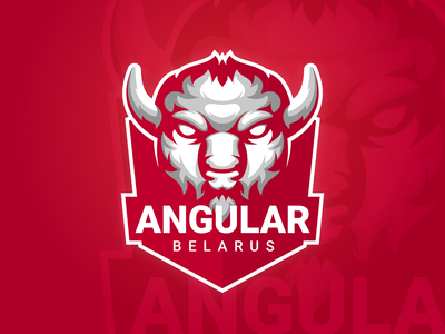 Angular Belarus mascot logo mascot animal logo animal red brand illustrator logotype vector concept branding illustration graphic logo design logo
