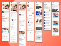 Talentry newsfeed and Stories on mobile