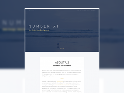 Number11.co website onepage html css
