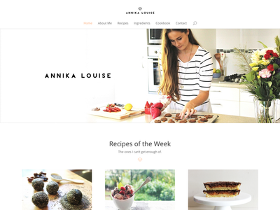 Annika Louise foodie website recipes healthy organic baking