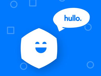 Hullo branding logo ecommerce bot