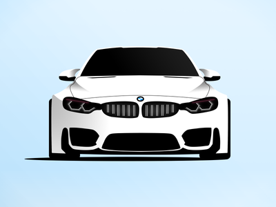 BMW M4 edinburgh blue shadow motor auto fade illustration icon graphicdesign m4 design car bmw