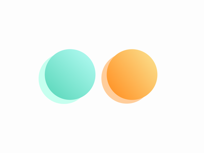 Mint and Tangerine shape illustration gradient edinburgh circle graphic logo blue scotland design