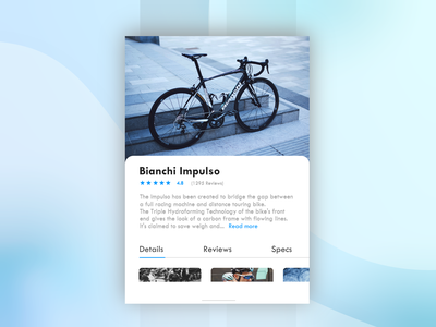 Bianchi Impulso Card italian photography bicycle bike bianchi gradient shape colour logo blue graphic scotland edinburgh design