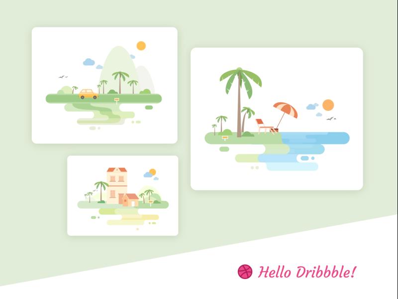 Vacation Illustration vector design color illustration