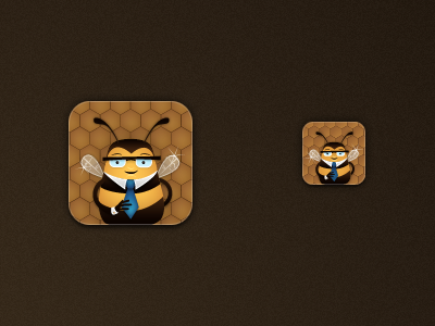 App icon bee stock iphone icon honey