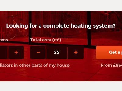 New underfloor heating site search red widget heating area price