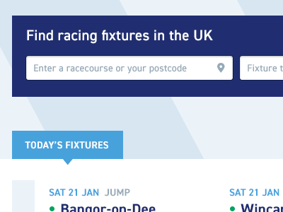 Fixtures location search horse racing fixture