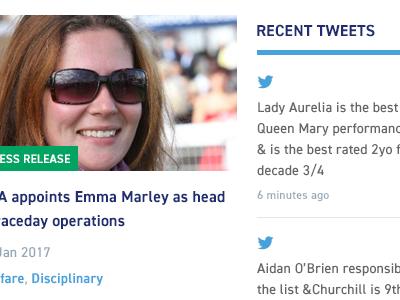 Recent Tweets list style social news twitter tweet