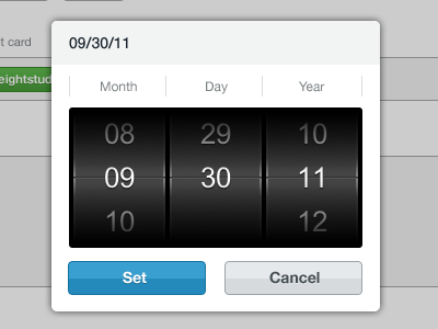 Scrolling date picker