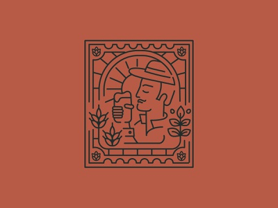 N•4 Man Illustration postcard beer brewery branding branding brewery man illustration
