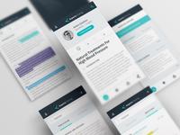 Expert Sharing App design