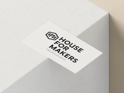 logo design House for makers- Fablab
